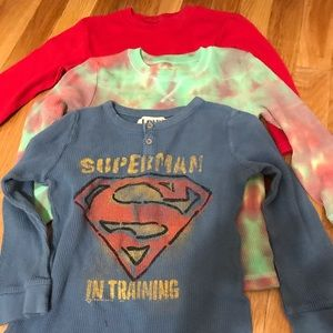 Lot of three thermal shirts size 4t